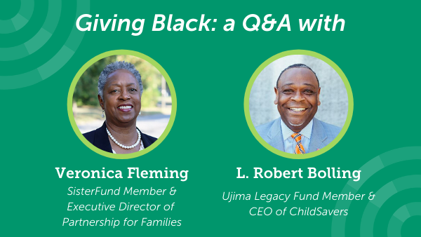 Giving Black: A Q&A with Veronica Fleming and L. Robert Bolling