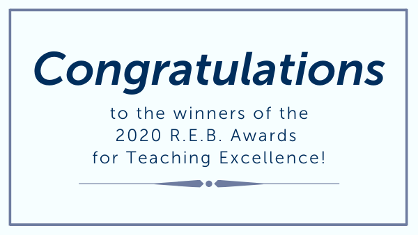 The Community Foundation and R.E.B. Foundation announce recipients of  2020 R.E.B. Awards for Teaching Excellence
